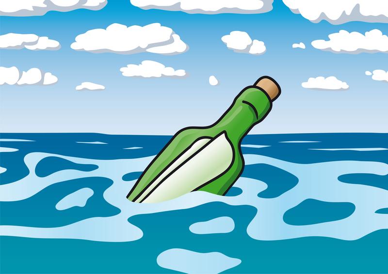Vidéo : une bouteille à la mer livre son message !