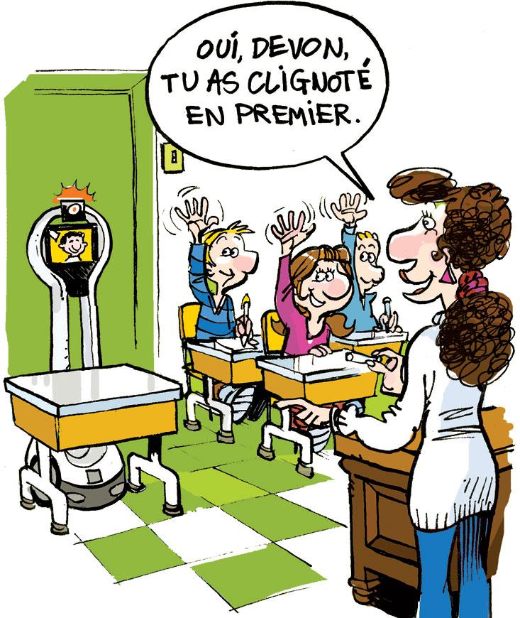Un robot à l'école !