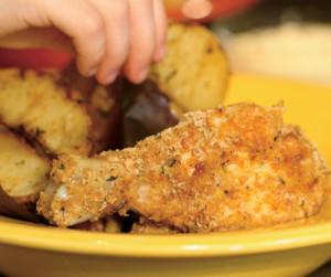 Du poulet pané santé