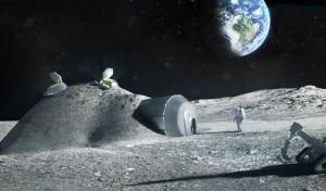 Un «igloo» en poussière de Lune