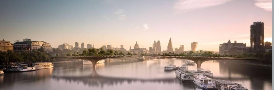 Un pont-jardin à Londres