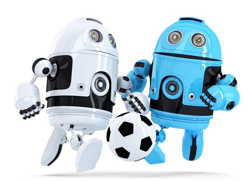 Au soccer, les robots!
