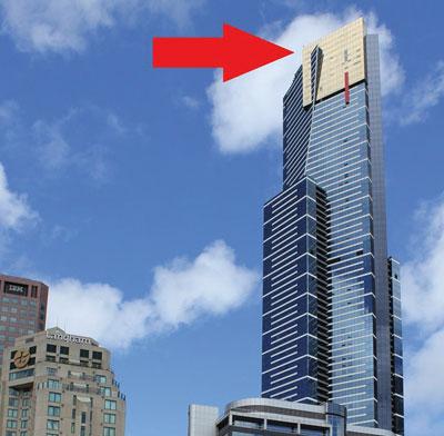 Melbourne vue d'en haut