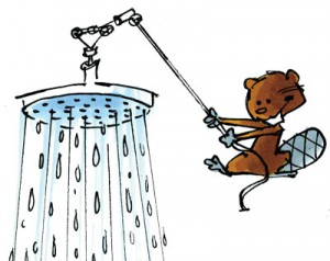 Une douche anti-gaspillage