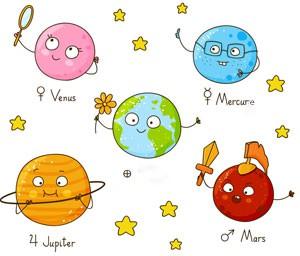 Grande réunion de famille chez les planètes