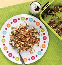 Salade de quinoa, pomme et fromage