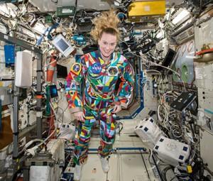 La combinaison «courage» de l'astronaute Kate Rubins
