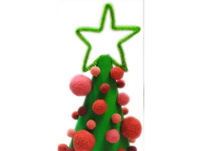 Bricole des décorations de Noël avec des pompons !