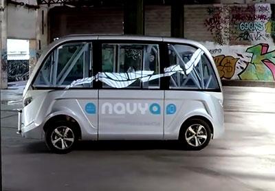 Le minibus sans chauffeur