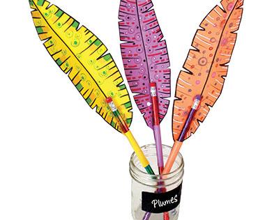 Fabrique des crayons-plumes