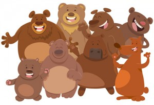 Jeu des 6 différences : Chez les ours