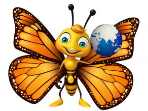 D'où viennent les papillons que l'on peut voir durant l'activité Papillons en liberté ?