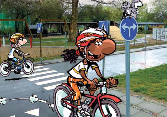 Au parc à vélos !