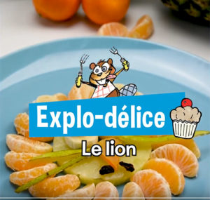 Un lion fruité !