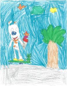 Amélie Huet, 6 ans