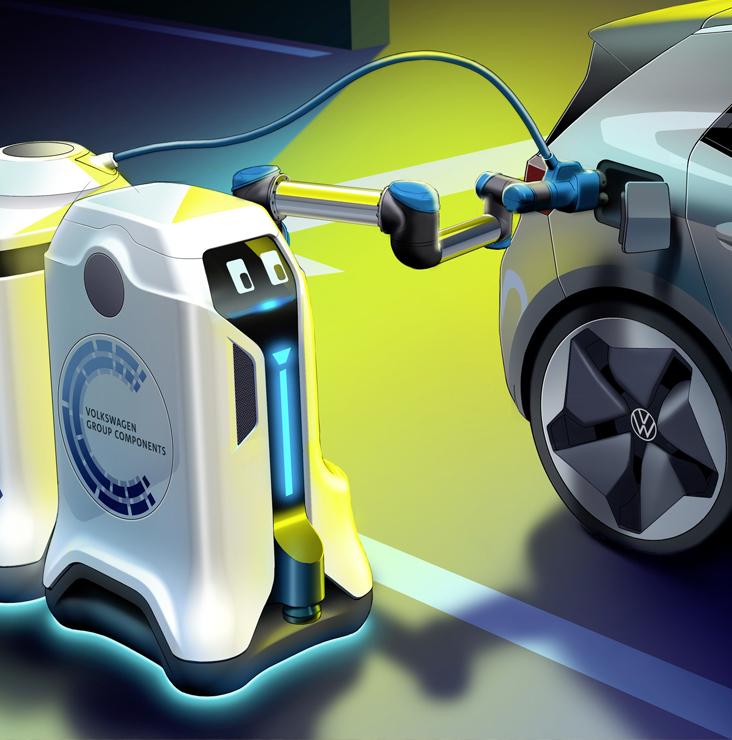 Un robot pour voitures électriques