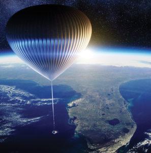 En ballon vers l'espace!