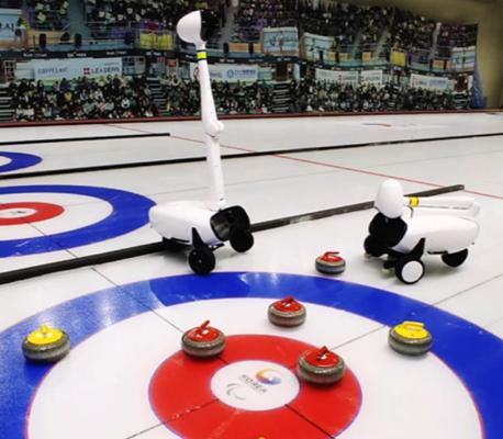 Au curling, les robots gagnent!