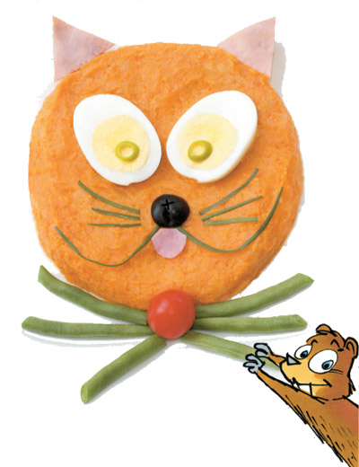 Le chat patate pouf!