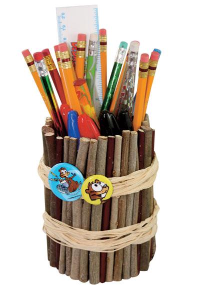 Fabrique un porte-crayons nature